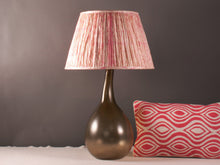 Load image into Gallery viewer, Pink Shibori Silk Lampshade
