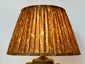 Pale gold with pink paisley silk lampshade