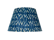 Load image into Gallery viewer, Frank Lamp and Indigo Zig Zag lampshade