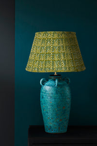 Keith Small Lamp and Green Blue Chevron lampshade
