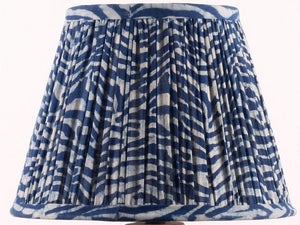 Indigo Wave Cotton Lampshade