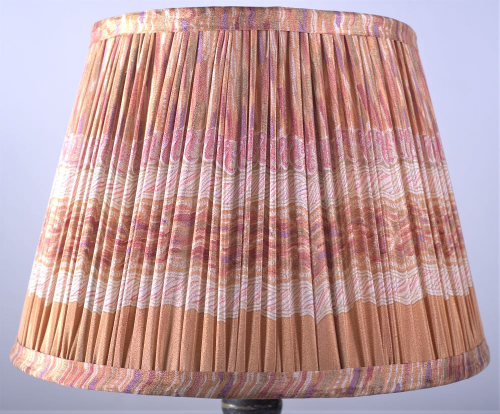 Pastel marble silk lampshade
