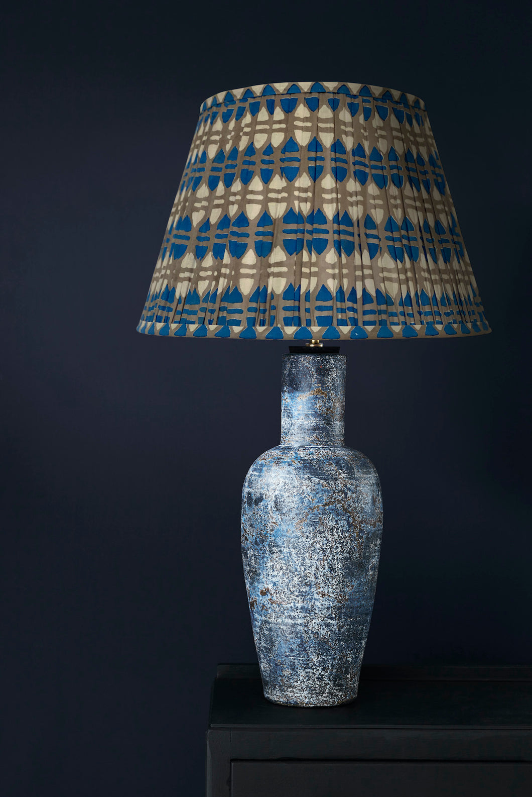 Stevie Lamp and Blue Acorn lampshade