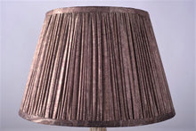 Load image into Gallery viewer, Sepia silk lampshade