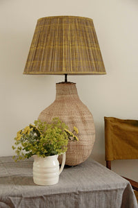 Big Baobab Lamp and Mustard Splatter Cotton Lampshade