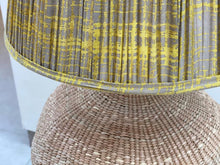 Load image into Gallery viewer, Baby Baobab Lamp and Mustard Splatter Cotton Lampshade