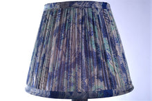 Load image into Gallery viewer, Royal blue and aqua silk saree lampshade