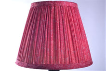 Load image into Gallery viewer, Bubblegum pink silk saree lampshade