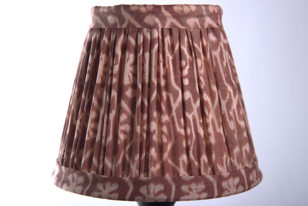 Dusty pink silk lampshade