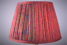 Load image into Gallery viewer, Fushcia pink with pallu silk lampshade