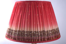 Load image into Gallery viewer, Fuschia with contrasting pallu silk lampshade