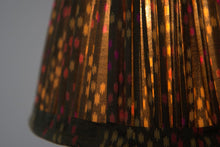 Load image into Gallery viewer, Green tiny ikat silk lampshade