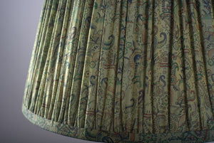 Green Paisley silk lampshade