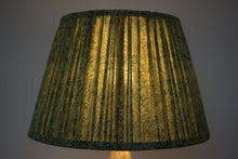 Load image into Gallery viewer, Green Paisley silk lampshade