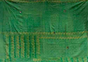 Green and Turquoise Kantha Quilt KA1918