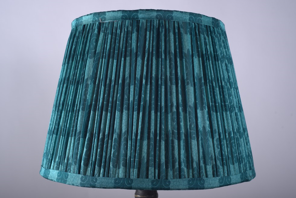 Malachite Silk Lampshade