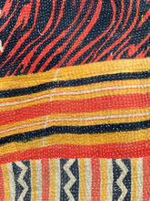 Load image into Gallery viewer, Red, black and yellow kantha