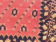 Load image into Gallery viewer, Red and black kantha