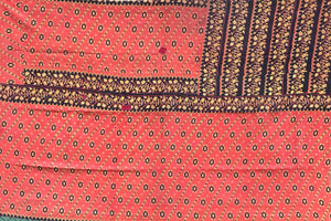 Red and black kantha