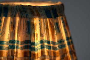 Malachite and ochre silk lampshade