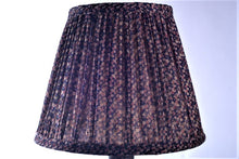 Load image into Gallery viewer, Navy tiny paisley silk saree lampshade