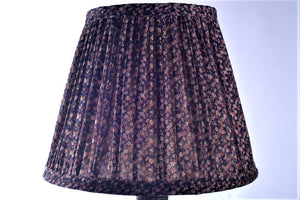 Navy tiny paisley silk saree lampshade