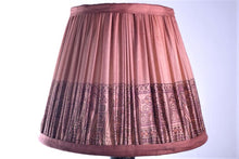 Load image into Gallery viewer, Blush pink silk saree lampshade
