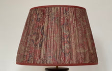 Load image into Gallery viewer, Pink and grey silk lampshade
