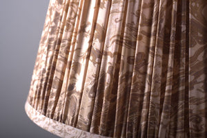 Sepia marbled silk lampshade