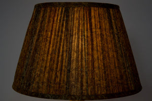 Saffron & sepia no border silk lampshade