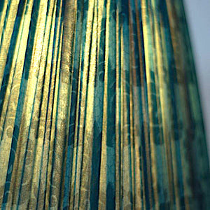 Malachite silk saree lampshade