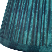 Load image into Gallery viewer, Malachite silk saree lampshade