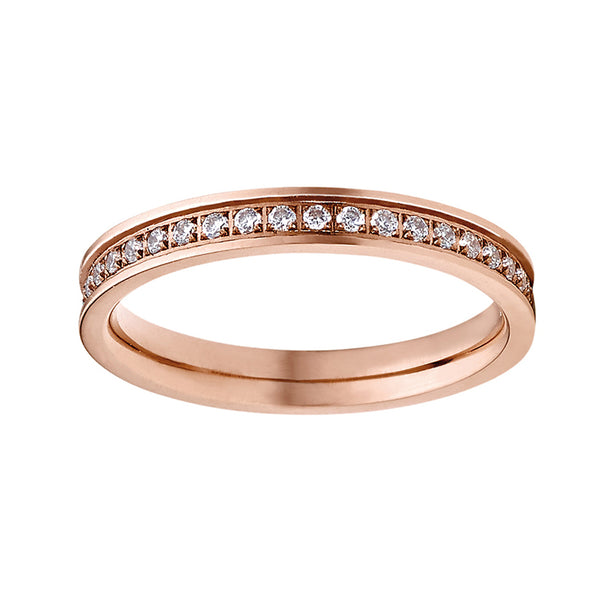 M&M Ring Modern Glam Rosé | Modell  167 von M&M Germany - MR3167-952