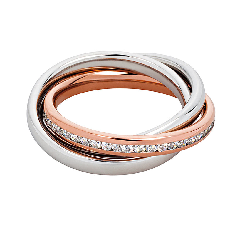 M&M Ring Modern Glam Rosé | Modell  190 von M&M Germany - MR3190-952