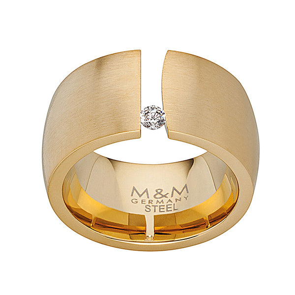 M&M Ring Modern Glam Gold | Modell  208 von M&M Germany | MR3208-452