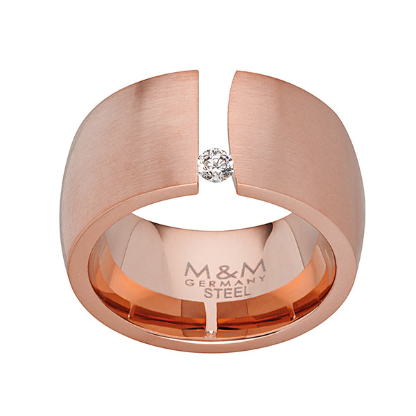 M&M Ring Modern Glam Rosé | Modell  208 von M&M Germany - MR3208-954