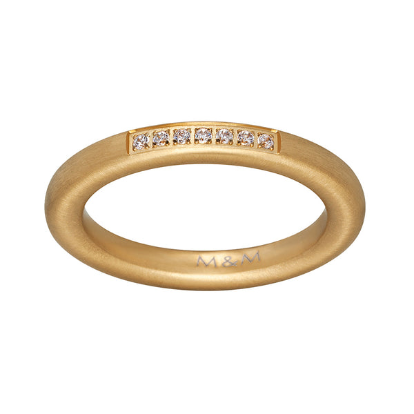 M&M Ring Modern Glam Gold | Modell  225 von M&M Germany - MR3225-452