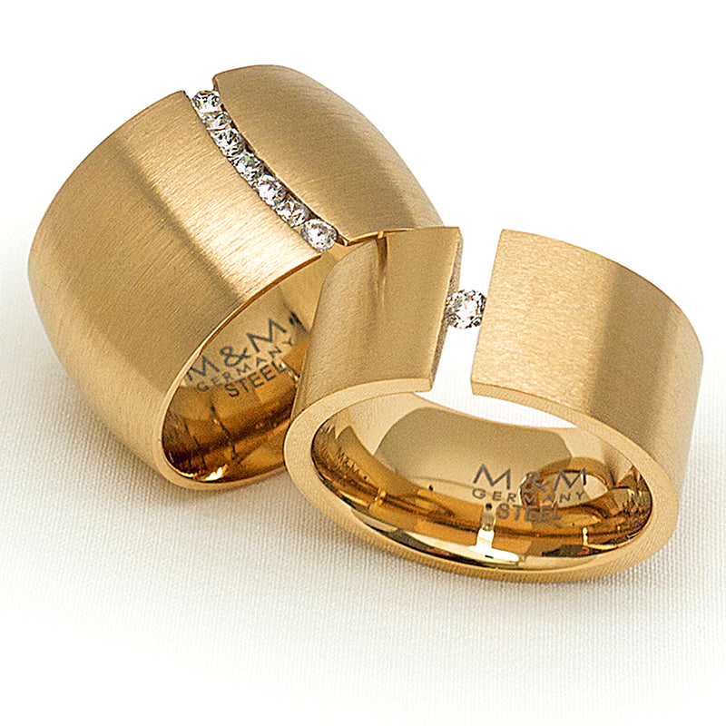 M&M Ring Modern Glam Gold | Modell  248 von M&M Germany | MR3248-452