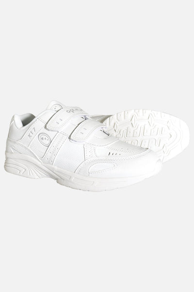 Optimum X17 Trainer Velcro Easy Fasten - White, Non-marking