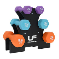 UFE 12kg Dumbbell Set with Tree Stand