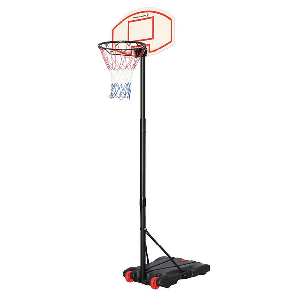 Sportcraft Adjustable Basketball Net & Portable Stand - Youth
