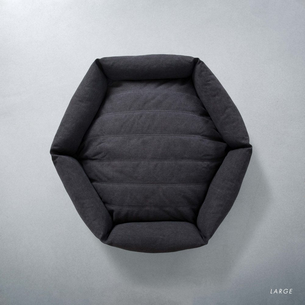 Canvas Hex Cushion in Shadow