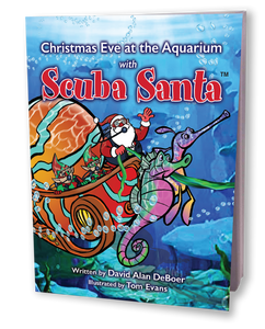 Christmas Eve At The Aquarium With Scuba Santa (Softcover)