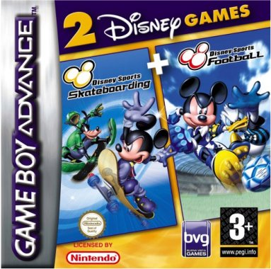 Disney Sports skateboarding + football (losse cassette)