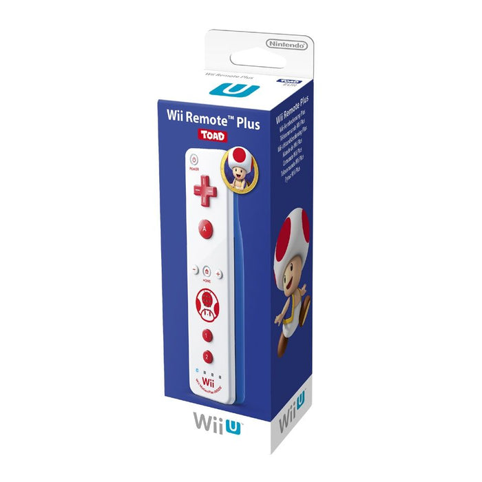 Nintendo Official Wii / Wii U Remote Plus - Toad Edition