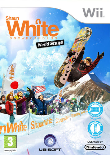 Shaun White snowboarding world stage