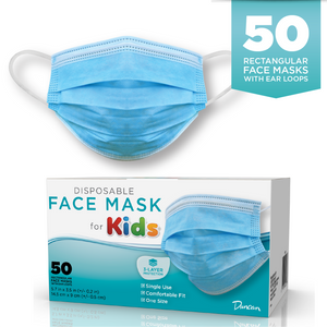 Case of 50 Disposable Face Masks - Kids size