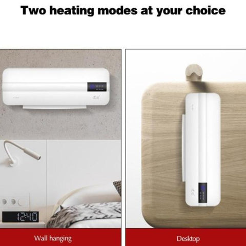 2 in 1 Electric Wall Mounted Air Conditioner Heater Fan