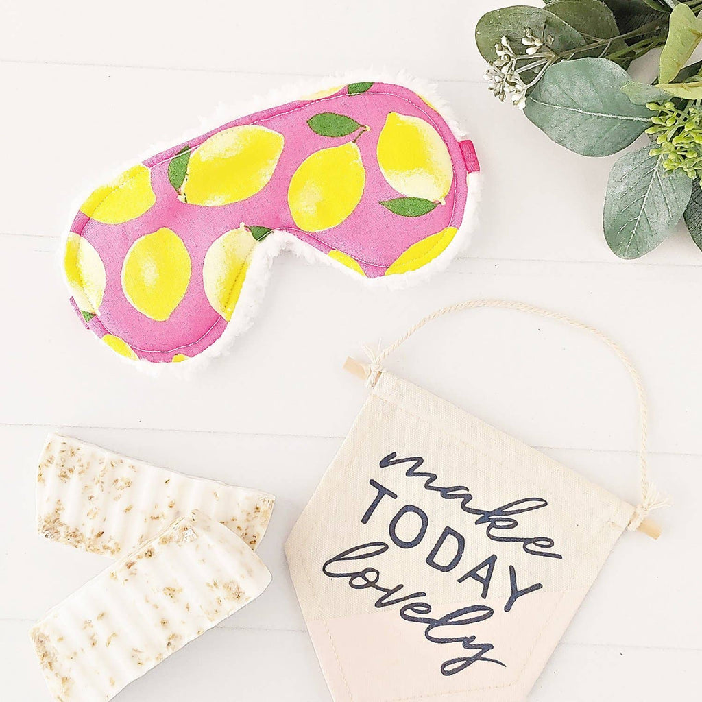 Modern Pink Lemons Sleep Mask