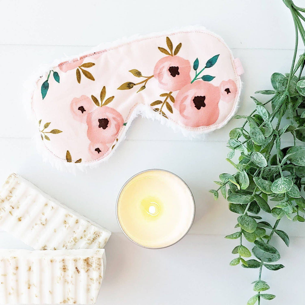 Pink Floral Sleep Mask